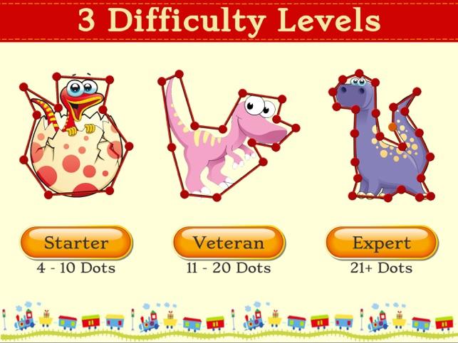 Dino Dot Connect dots for kids Screenshot