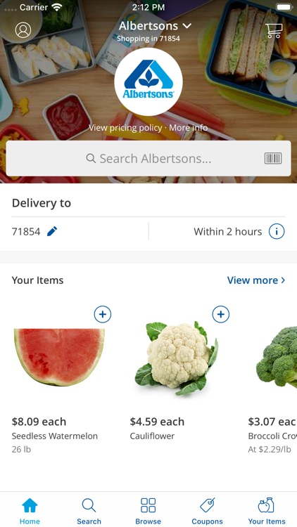 Albertsons Rush Delivery