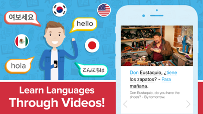 FluentU: Language Learning App Screenshot