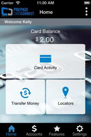 PrepaidCardConnect - náhled