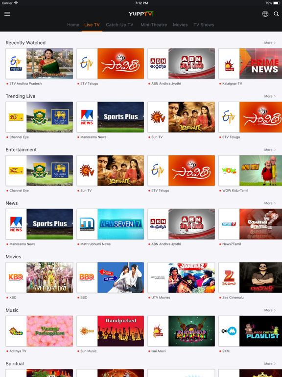 Screenshot #5 pour YuppTV - Live TV & Movies