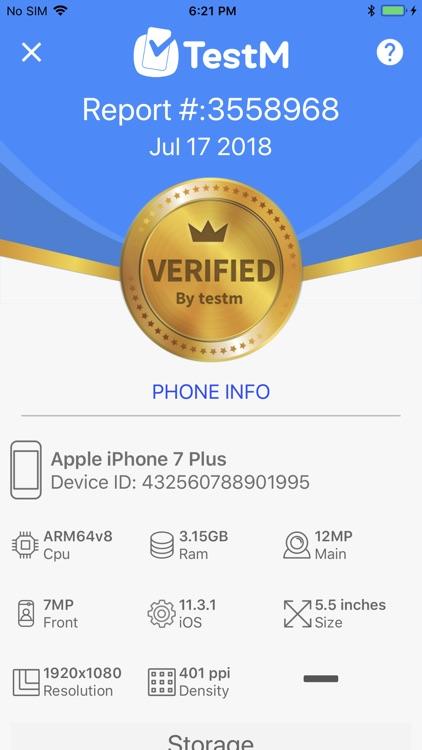 TestM - Check phone & Report screenshot-3