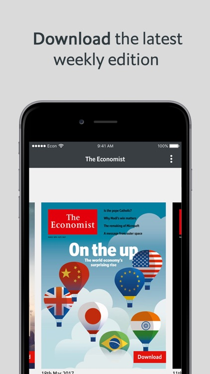 The Economist weekly issue(EU)