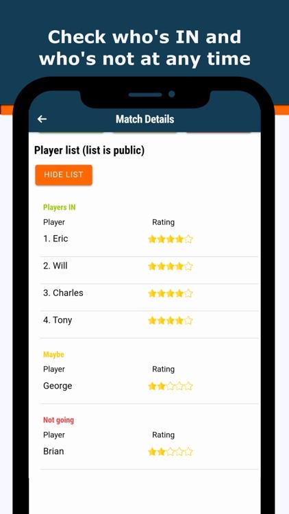 IMIN - Sport Teams Manager app screenshot-5