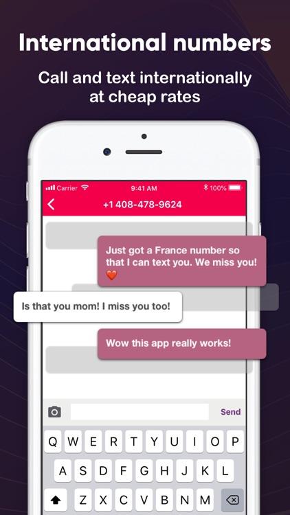 Phoner Texting Phone Number screenshot-5