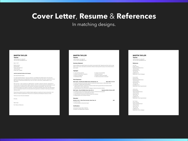 Resume Builder By Nobody On The App Store