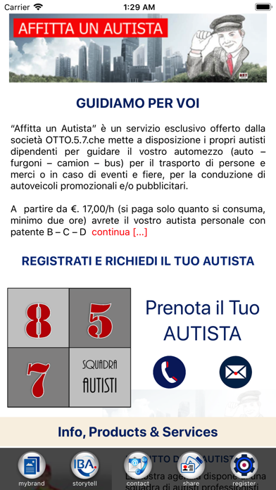 Screenshot of Affitta un Autista1