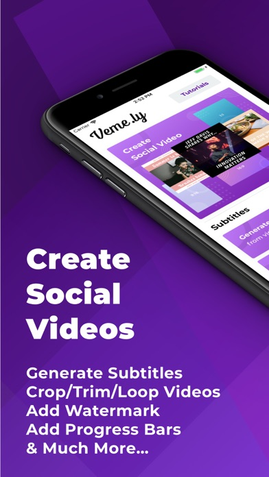 Veme.ly: Subtitles to Videos screenshot one
