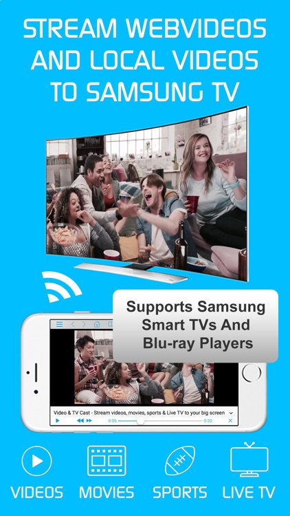 Video & TV Cast + Samsung TV