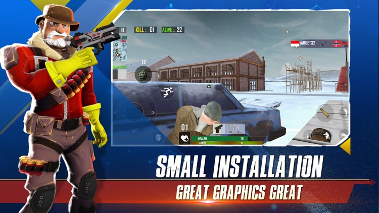 Winter Strike Battle Royale 3D
