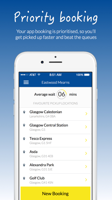 Eastwood Mearns Taxis screenshot two