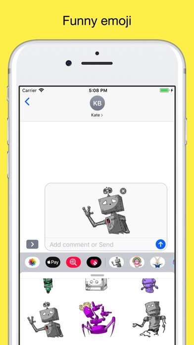 Robots - Emoji and Stickers screenshot 3