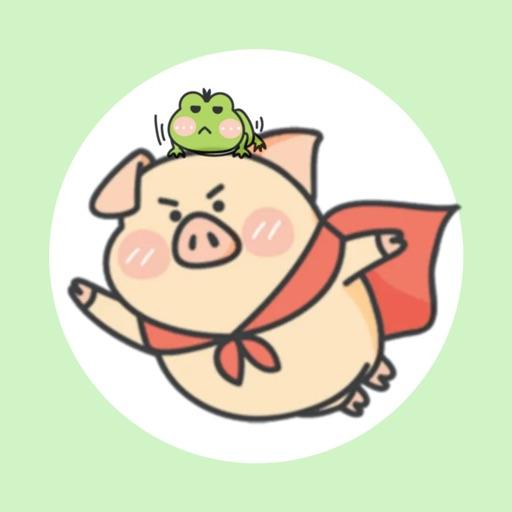 Piggy Duby&Frog Bady -Stickers