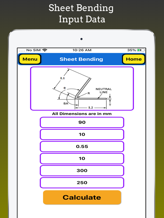 Sheet Bending Calculator Pro screenshot 6