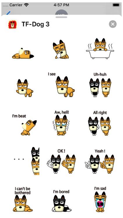 TF-Dog 3 Stickers screenshot-3