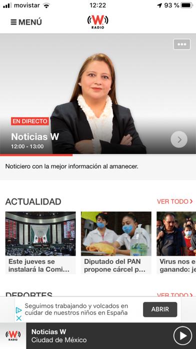 WRadio México para iPhoneCaptura de pantalla de2