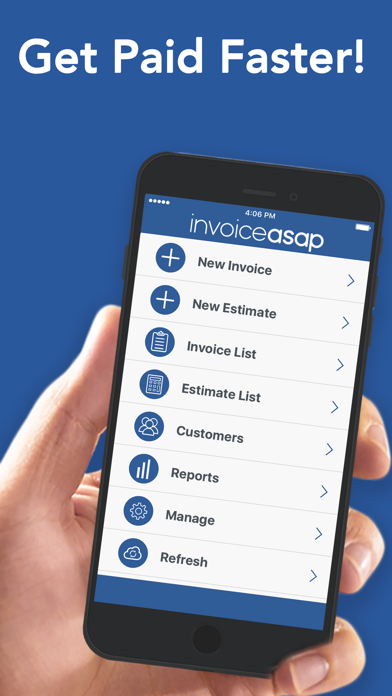 Invoice ASAP, Invoicing Screenshot