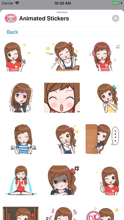 Animated Girls Stickers screenshot-8