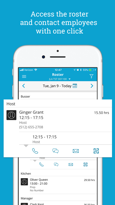 Screenshot of HotSchedules App