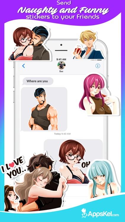 A Sexy Anime Emoji Stickers screenshot-3
