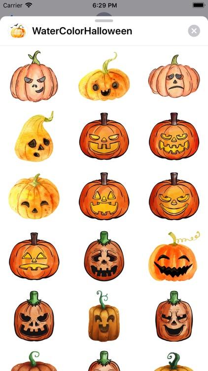 WaterColor Halloween Stickers screenshot-3