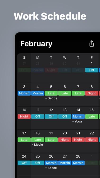 Supershift - Shift Schedule