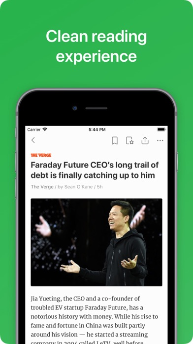 Feedly - Smart News Reader Screenshot on iOS