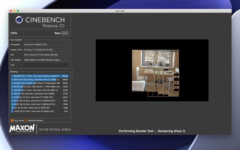 Cinebench for Mac