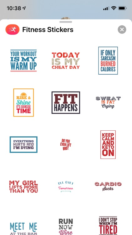 Fitness & Health Sticker Pack
