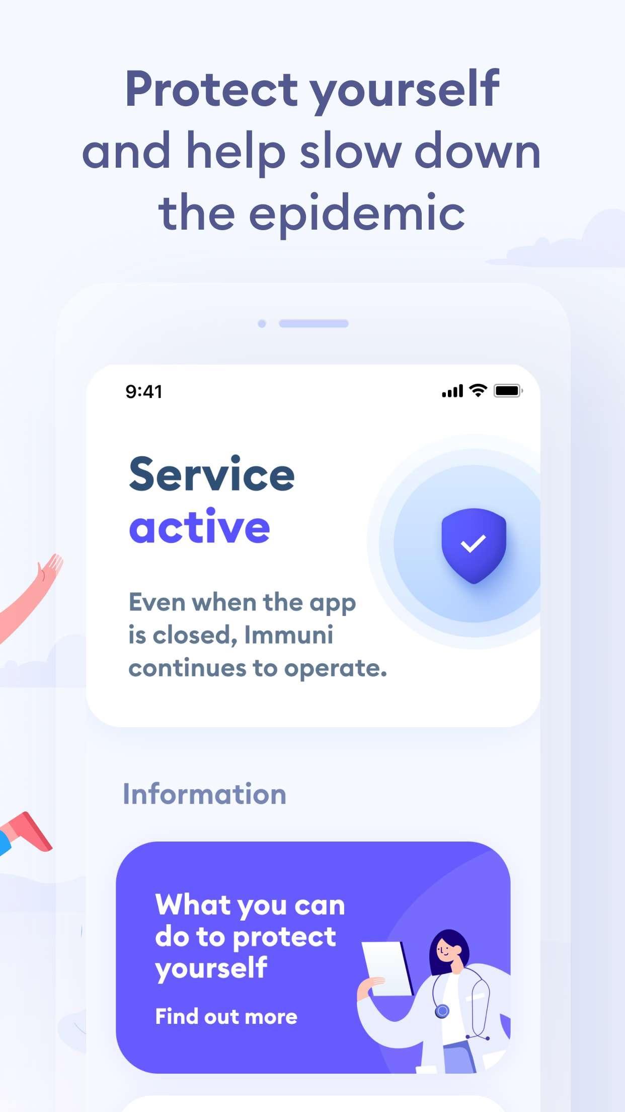 Screenshot do app Immuni