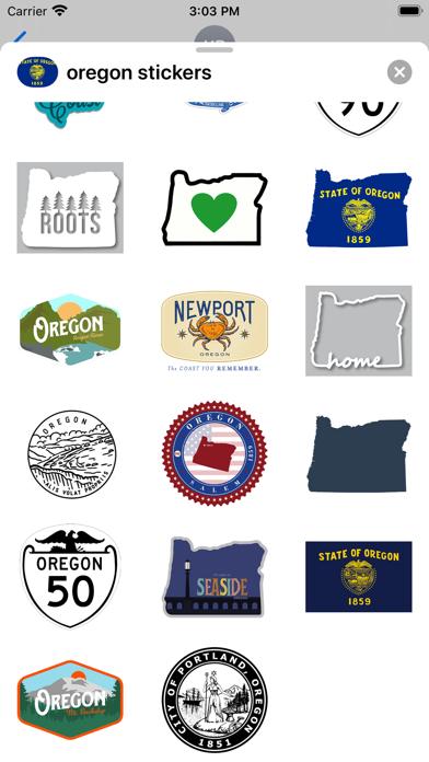 Oregon emojis - USA stickers screenshot 3
