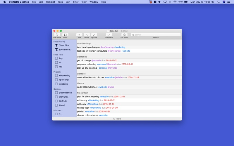 SwiftoDo Desktop for Mac