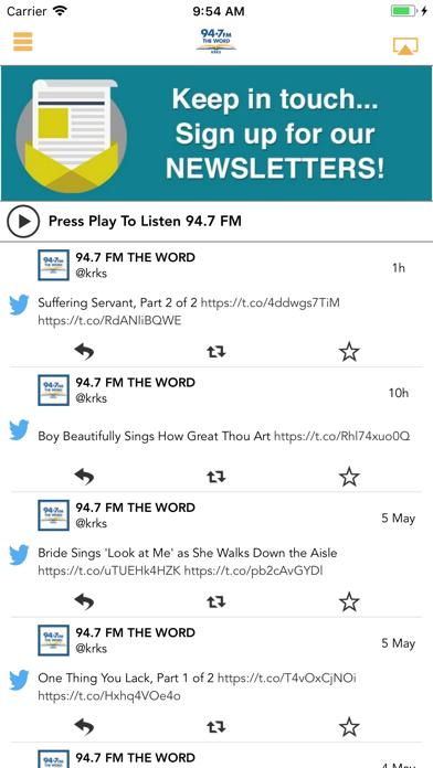 94-7 FM The Word screenshot one