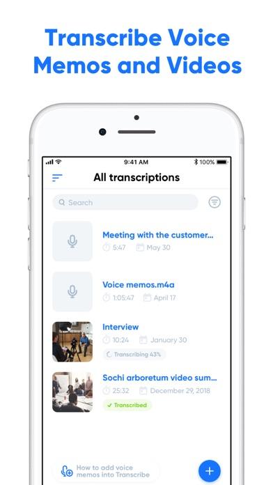 Transcribe - Speech to Text screenshot one