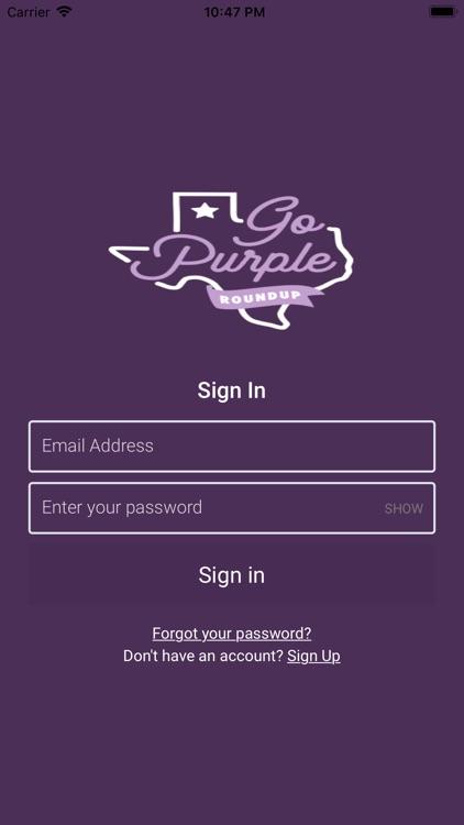 Go Purple Roundup