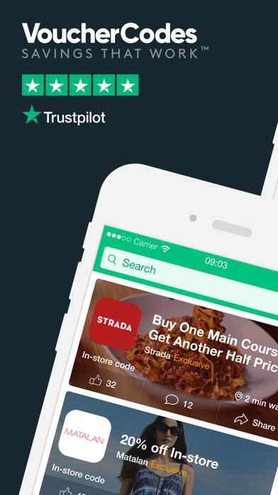 VoucherCodes: Discounts, Deals screenshot one