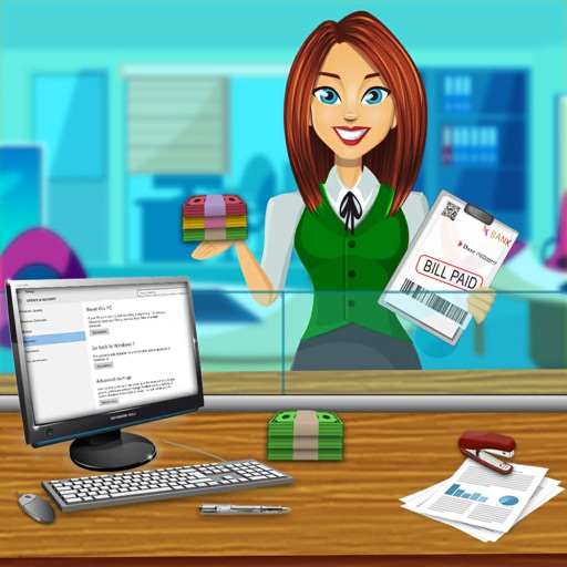 Bank Manager Cash Register