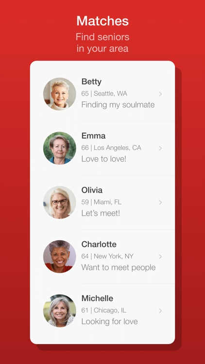 Dating for Seniors - Chat App