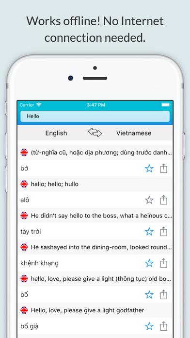 English Vietnam Dictionary + screenshot 1