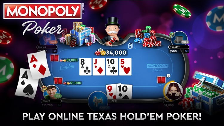 MONOPOLY Poker - Texas Holdem screenshot-0