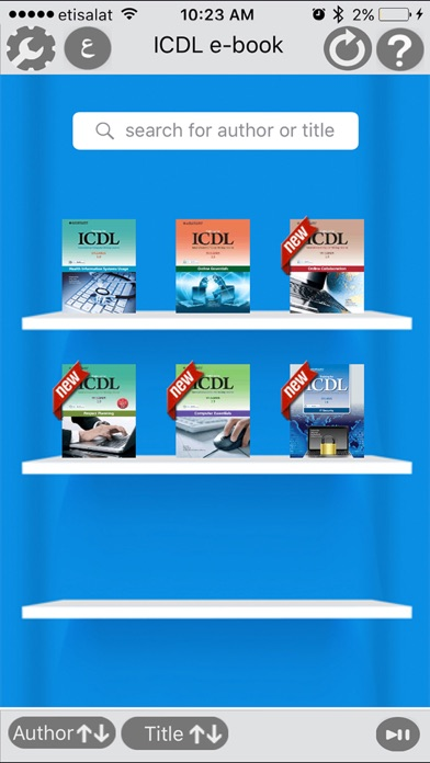 ICDL e-bookScreenshot of 2