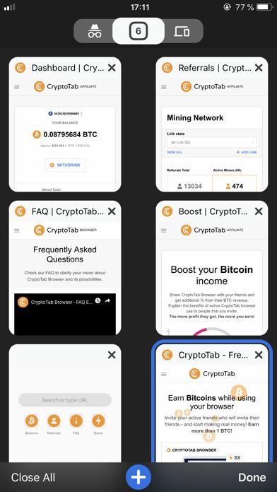 CryptoTab Browser Mobile på PC