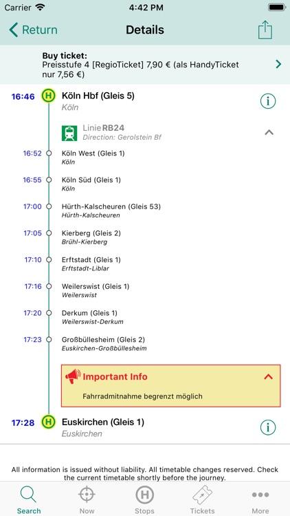 VRS Auskunft screenshot-3