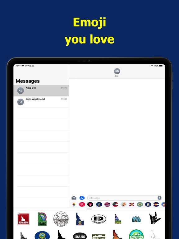 Idaho emojis - USA stickers screenshot 7