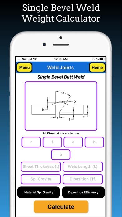 Welding Weight Calculator Pro screenshot 3