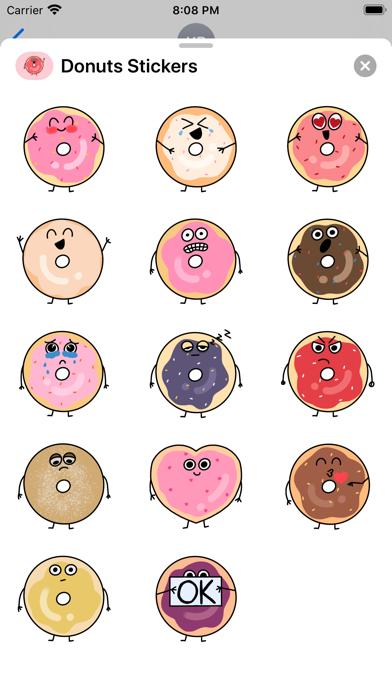 Cute Donuts Stickers screenshot 1