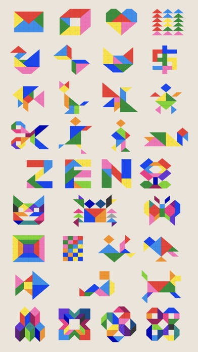 Screenshot for ZEN Block™-tangram puzzle game in Canada App Store