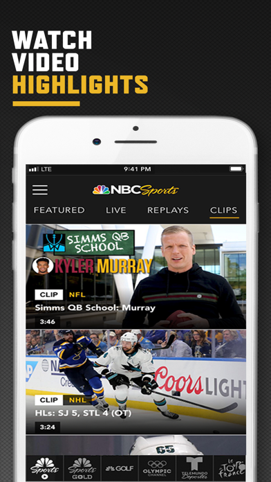 Screenshot for NBC Sports in United States App Store