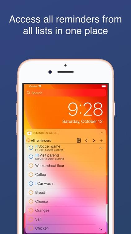 Reminders Widget screenshot-1