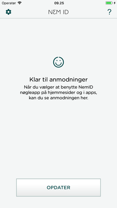 Screenshot for NemID nøgleapp erhv. til bank in Denmark App Store